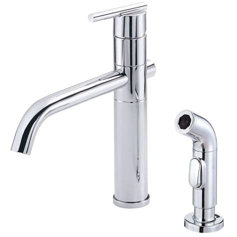 danze kitchen faucets danze parma single handle side sprayer kitchen faucet in chrome d405558 the home depot