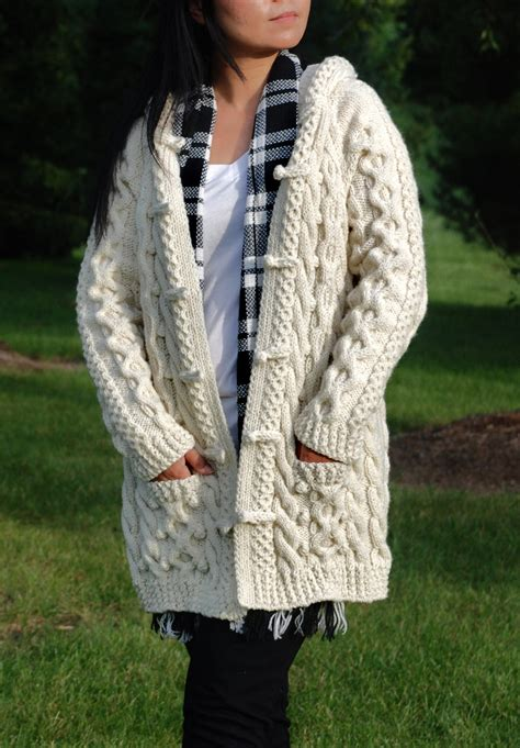 how to knit aran sweater knit chunky cable aran fisherman sweater coat