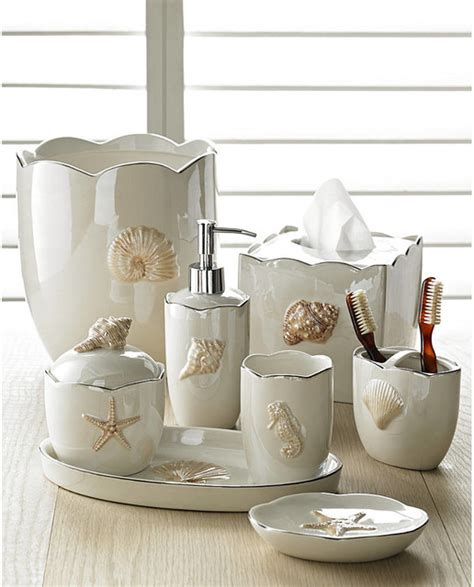 style bathroom accessories shells in pearl bath accessories sets coastal style