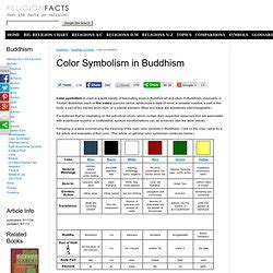 buddhist color meaning symboles inspirations pearltrees