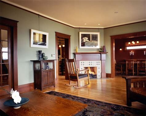 paint colors for living room with woodwork craftsman style interior trim