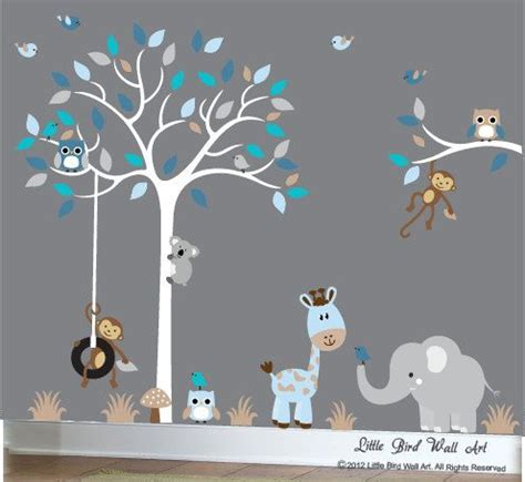 boys nursery wall decals baby boy wall decal nursery white tree by