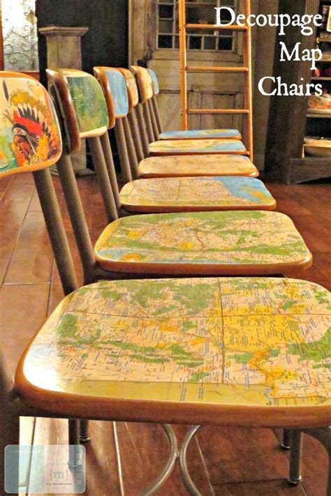 decoupage maps on furniture diy projects maps and decoupage on