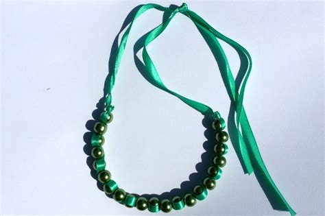 how to make ribbon jewelry how to make a ribbon wave necklace pictures photos and