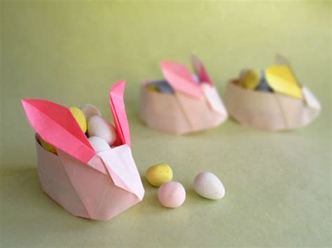 easter origami bunny how to make an origami easter rabbit basket by origami