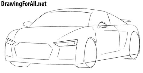 how to draw a car 8 steps with pictures wikihow how to draw an audi r8 drawingforall net