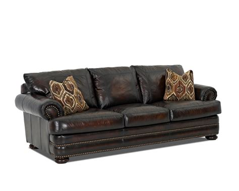 klaussner leather sofas klaussner montezuma leather sofa with rolled arms olinde