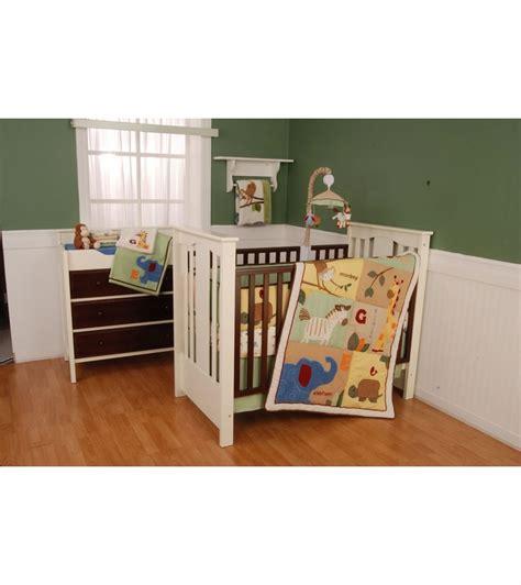 safari nursery bedding sets kidsline safari 4 crib bedding set