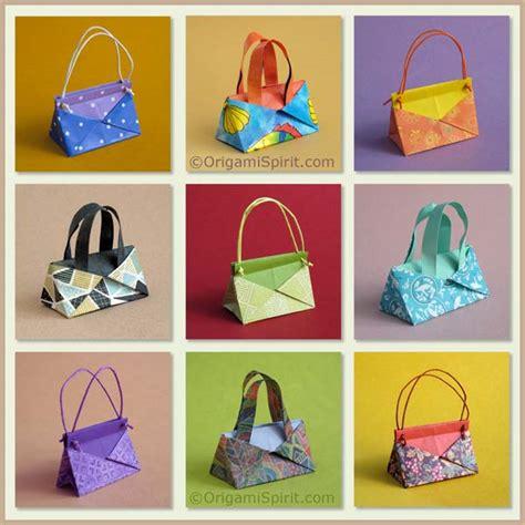 how to make an origami purse a contemporary origami handbag