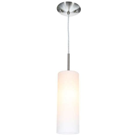 home depot pendant lights eglo troy 3 1 light matte nickel hanging mini pendant