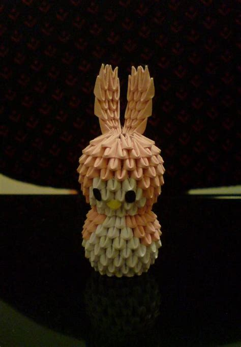 origami 3d rabbit 3d origami bunny 2 by spkmw on deviantart