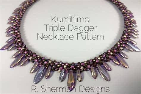 beaded kumihimo necklace patterns pdf kumihimo pattern kumihimo dagger necklace