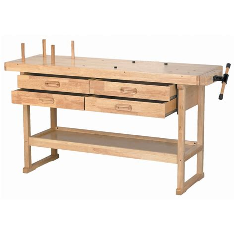 woodworking drawers 60 in 4 drawer hardwood workbench