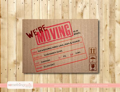 how to make moving cards we re moving cardboard box moving by somethingcutedesigns