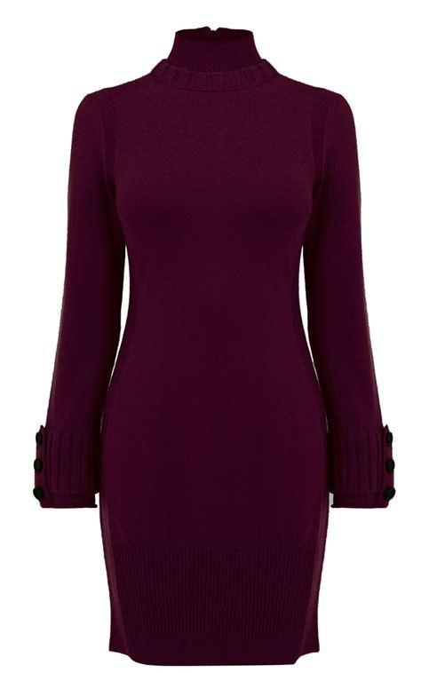 sweater knit dress millen essential sweater knit dress in purple lyst