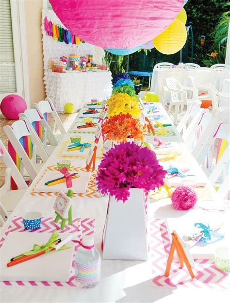 arts and crafts ideas for birthday rainbow chevron arts and crafts hostess with