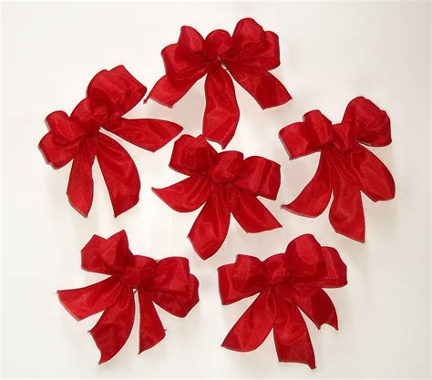 bows for tree tree bows in set of 6 garland bows small