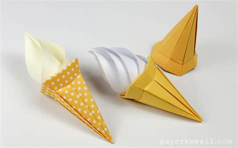 origami paper types origami cone modular paper kawaii
