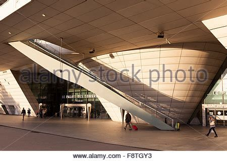 porte maillot palais des congres by the architect stock photo royalty free image