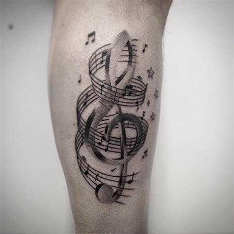 60 tatuagens de notas musicais lindas e criativas