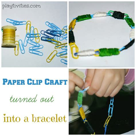 paper clip crafts paper clip craft turns out into a bracelet playtivities