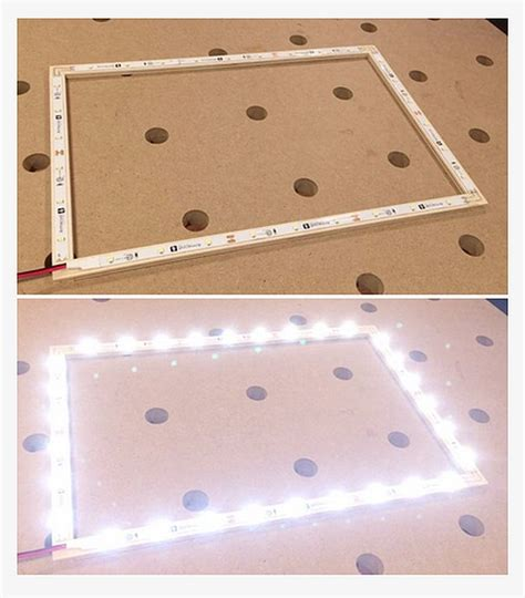 led lights for craft projects how to make an led laptop frame diy projects craft ideas