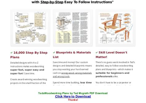 ted mcgrath woodworking plans teds woodworking plans by ted mcgrath pdf