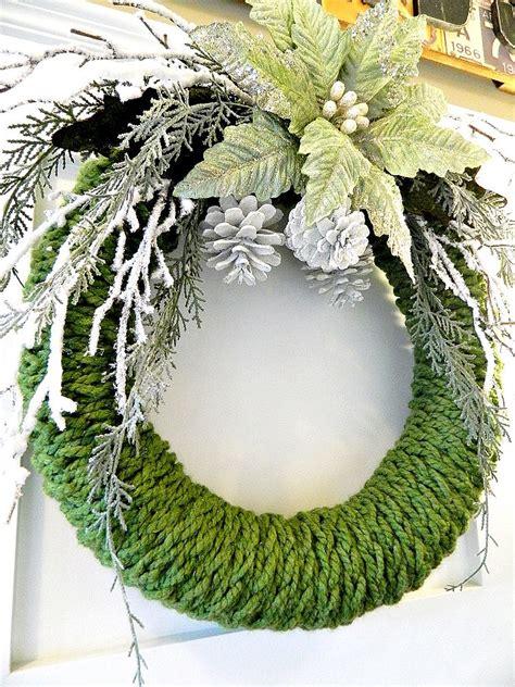 finger knit wreath hometalk finger knitted wreath