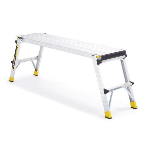 gorilla ladders 20 in aluminum slim fold work platform
