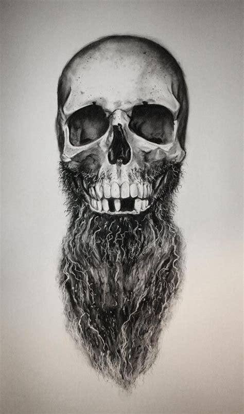 skull beard daniel a bavell sketch bearded skull beard beards