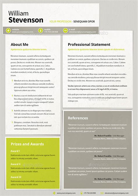 resume cv template by mrtemplater graphicriver