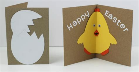 easter cards to make for children easter card with pop out beak in the madhouse