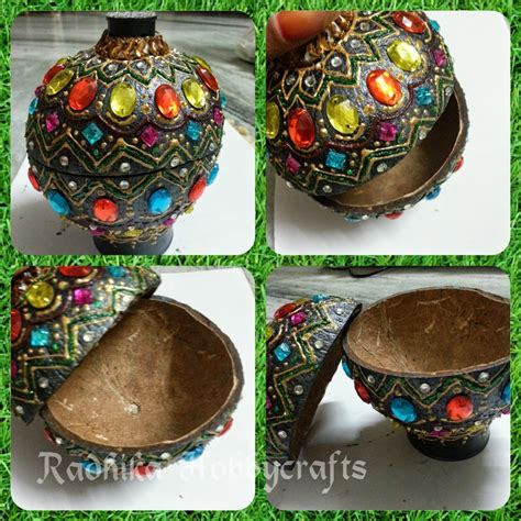 best out of waste craft ideas for coconut shell jewellery box best out of waste wiki how