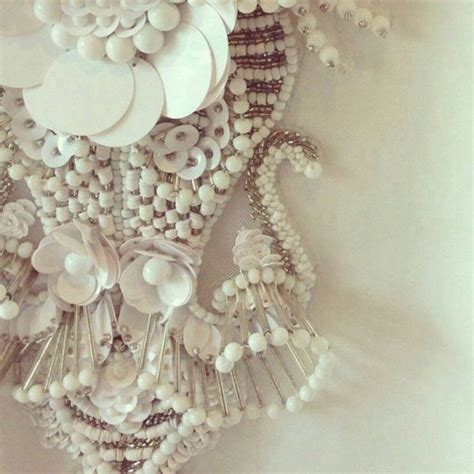 haute couture beading way of placing glass to create dimensional