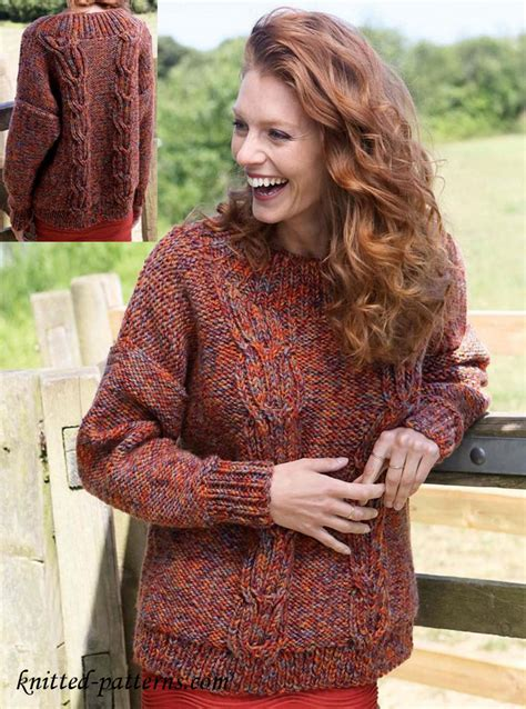 free knitting patterns womens jumpers cable jumper knitting pattern free