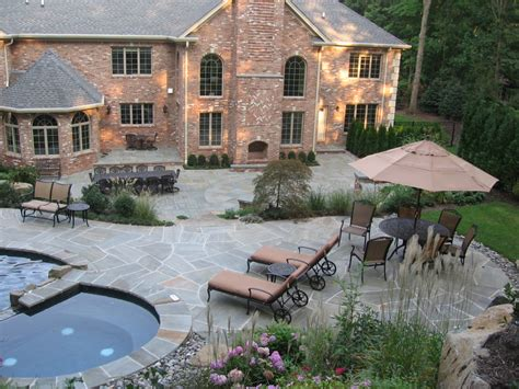 pool and patio designs patio wall design for pools landscaping nj