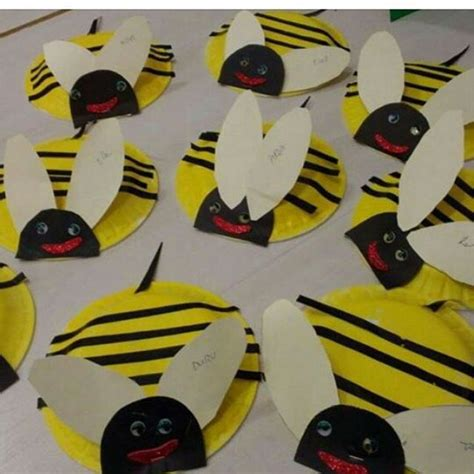 paper plate bumble bee craft crafts actvities and worksheets for preschool toddler and