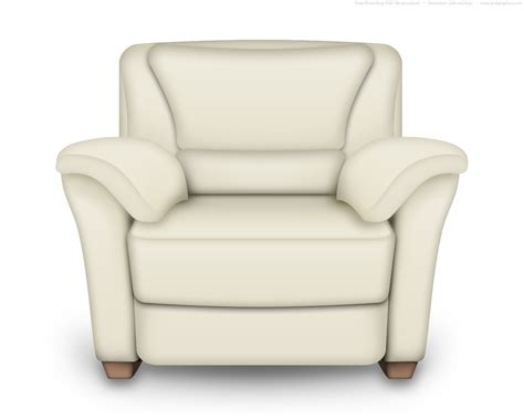 White Armchair by Psd And White Leather Armchair Interior Icon
