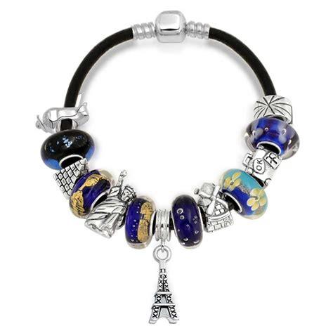 pandora compatible tourist world traveler dangle charm bracelet pandora
