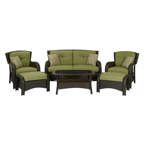outdoor patio furniture set shop hanover outdoor furniture strathmere 6 wicker