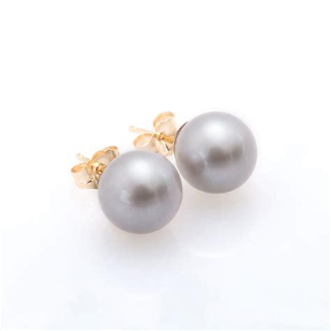 grey pearl fresh water grey pearl earring christine k jewelry
