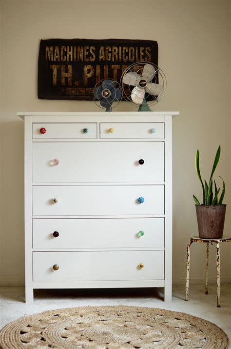 Small Bathroom Decor Ideas try this mismatched dresser knobs a beautiful mess
