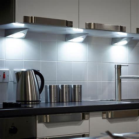 kitchen spotlight lighting gx53 mains led cabinet triangle light