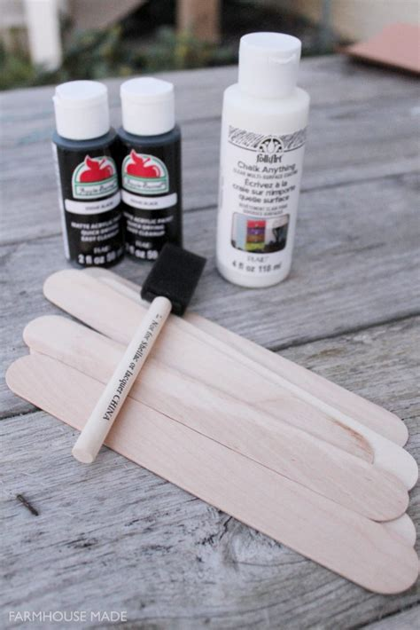 diy chalkboard markers diy chalkboard plant markers farmhouse made