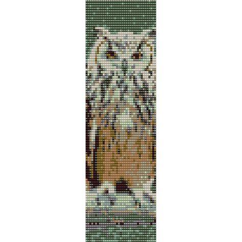seed bead bracelet patterns loom owl 1 loom bead pattern bracelet cuff bookmark seed