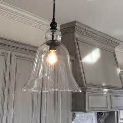 hanging lighting fixtures for kitchen kitchen large glass bell hanging pendant light favorite
