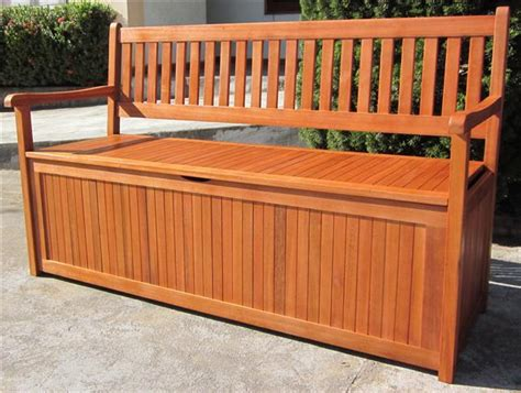 Eucalyptus Garden Furniture by Hardwood Wooden Garden Storage Bench 2 And 3 Seater Wood