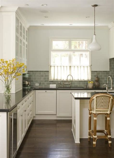 subway tile colors kitchen green subway tile backsplash cottage kitchen studio