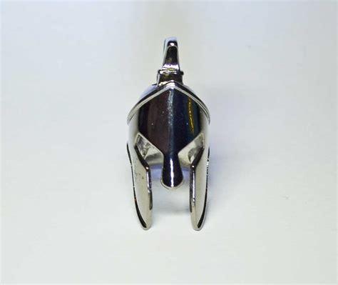 spartan helmet bead spartan helmet paracord bead gun metal black