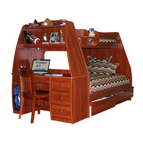 wooden bunk bed with desk underneath wooden bunk bed with drawers storage